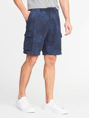 "Old Navy Linen-Blend Cargo Shorts for Men (10"")"