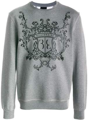 Billionaire logo print jumper