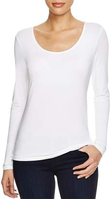 Elie Tahari Netta Scoop Neck Tee