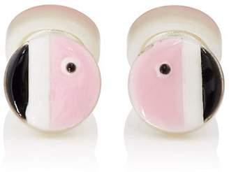Samuel Gassmann Paris Men's Flamingo Double-Sided Cufflinks - Pink