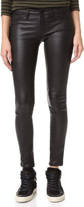 DL1961 Emma Power Legging Leather & Coated Jeans $396 thestylecure.com