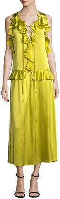Marissa Webb Silk Ruffle Dress