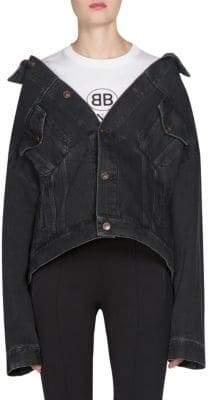 Balenciaga Denim Swing Jacket