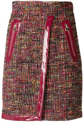Elisabetta Franchi vernished high-waisted skirt