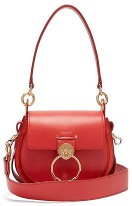Chloé Tess Small Leather And Suede Cross Body Bag - Womens - Red