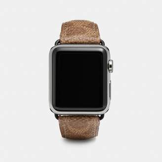 Coach Apple Watch Strap In Signature Canvas