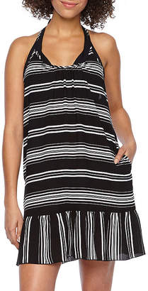 Porto Cruz Stripe Swimsuit Cover-Up Dress