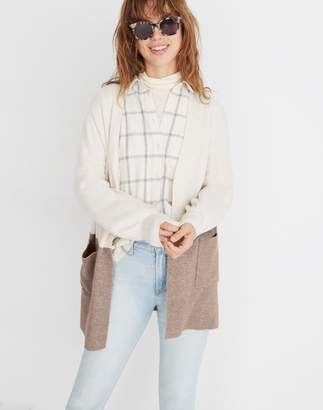 Madewell Kent Colorblock Cardigan Sweater in Coziest Yarn