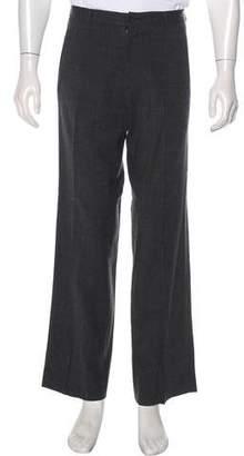 Armani Collezioni Wool Flat Front Pants