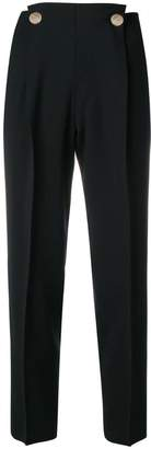 Incotex metallic button trousers