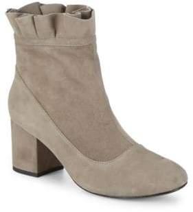 Cecelia New York Ruffled Leather Sock Booties