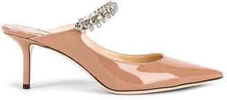 Jimmy Choo Patent Leather Bing 65 Heel in Ballet Pink   FWRD
