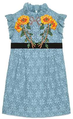 Gucci Children's lace dress with patches