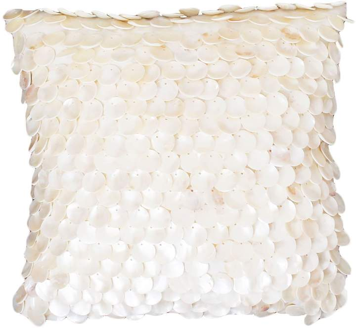 Capiz Shell Egret Pillow
