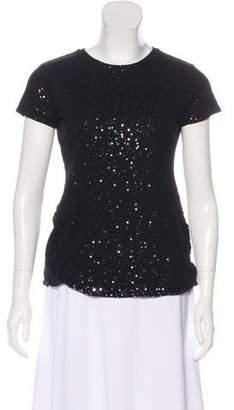 Ralph Lauren Black Label Silk Embellished Top