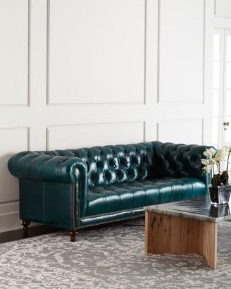 "Massoud Davidson 94"" Tufted Seat Chesterfield Sofa"