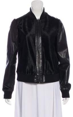 Vince Leather-Accented Shearling Jacket