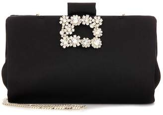 Roger Vivier Soft Flowers embellished clutch