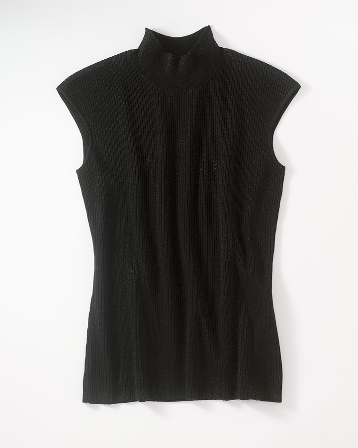 Mock neck shell