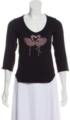 Sonia Rykiel Sonia by Embellished Long Sleeve T-Shirt