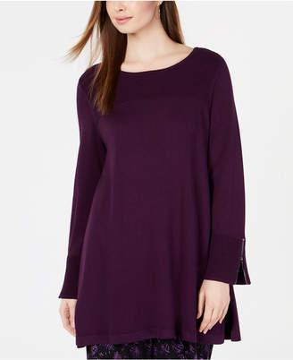 Alfani Ribbed Tunic Sweater