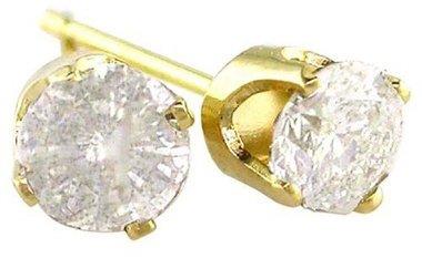1/4 Carat Diamond Stud Earrings in 14K Yellow Gold