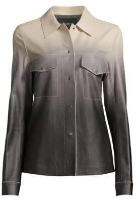 Lafayette 148 New York John Ombré Leather Jacket