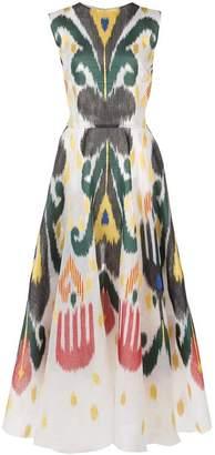 Oscar de la Renta abstract print flared dress