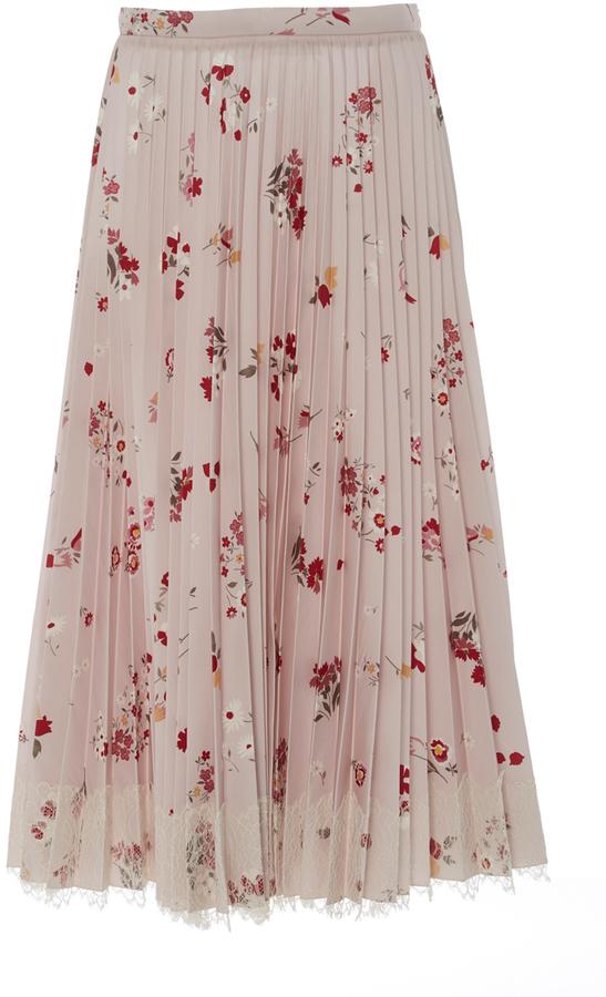 RED ValentinoRed Valentino Pleated Midi Skirt