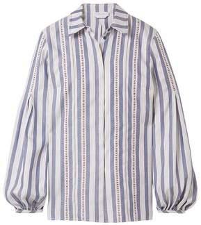 Gabriela Hearst Wight Silk-Jacquard Shirt