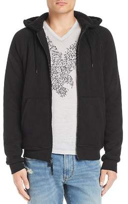 John Varvatos Faux Shearling-Lined Knit Hoodie