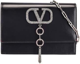 Valentino VRing Case Crossbody Bag in Black Diamond | FWRD