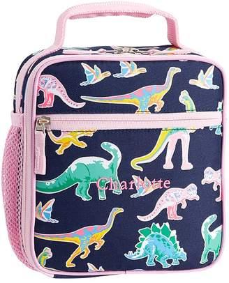 Pottery Barn Kids Mackenzie Pink Navy Glow-in-the-Dark Dinos Lunch Boxes