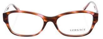 Versace Logo Marble Eyeglasses