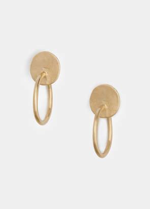 Large Stud Full Hoop Earrings