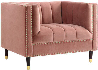 Nicole Miller Geoffey Velvet Club Chair