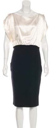 Antonio Berardi Short Sleeve Midi Dress Champagne Short Sleeve Midi Dress