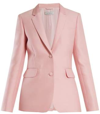 Gabriela Hearst Sophie Single Breasted Wool And Silk Blend Blazer - Womens - Light Pink