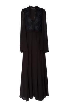 Etro Wiltshire Embroidered Silk-Chiffon Maxi Dress