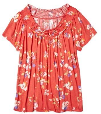 Merona Womens Plus-Size Short-Sleeve Peasant Top - Assorted Colors