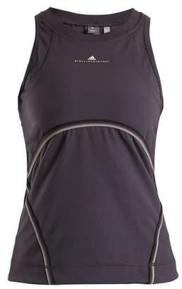 Adidas By Stella Mccartney - Cut Out Performance Tank Top - Womens - Dark Grey
