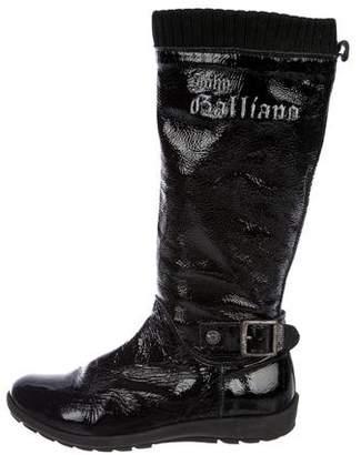 John Galliano Girls' Patent Leather Boots