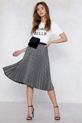 Nasty Gal Would You Pleat? Midi Skirt