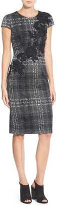 Betsey Johnson Embroidered Knit Sheath Dress $158 thestylecure.com