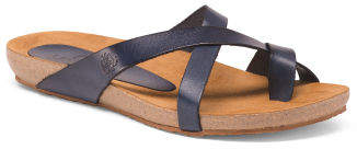 Made In Spain Leather Cork Footbed Sandals