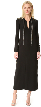 McQ - Alexander McQueen Diamond Maxi Tie Dress $630 thestylecure.com