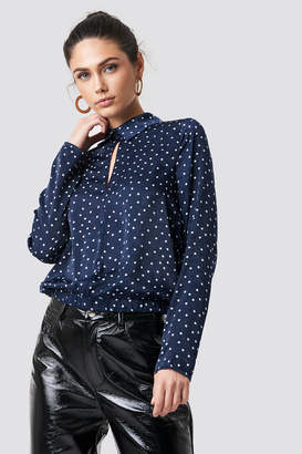 NA-KD Na Kd Front Cut Out Dotted Top