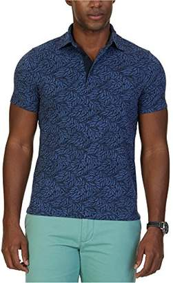Nautica Men's Slim Fit Short Sleeve Print Polo Shirt