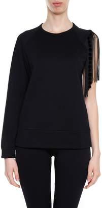 N°21 Fringed Sweatshirt