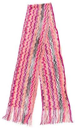 Missoni Patterned Fringe Scarf